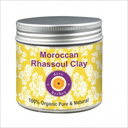 Moroccan Rhassoul Clay from the Atlas Mountains 100% Organic Pure & Natural 100 gm